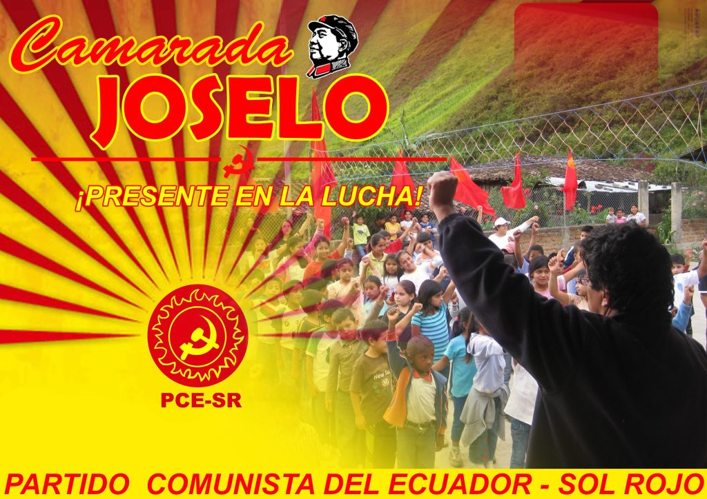 COMRADE JOSELO: IN THE HEARTS AND STRUGGLES OF THE CLASS AND THE OPPRESSED PEOPLES OF THE WORLD!