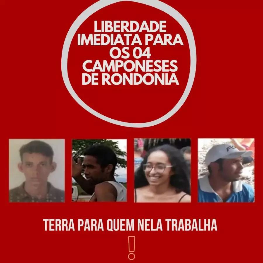 Campanha pela liberdade dos quatro de Rondônia toma fôlego às vésperas da primeira audiência